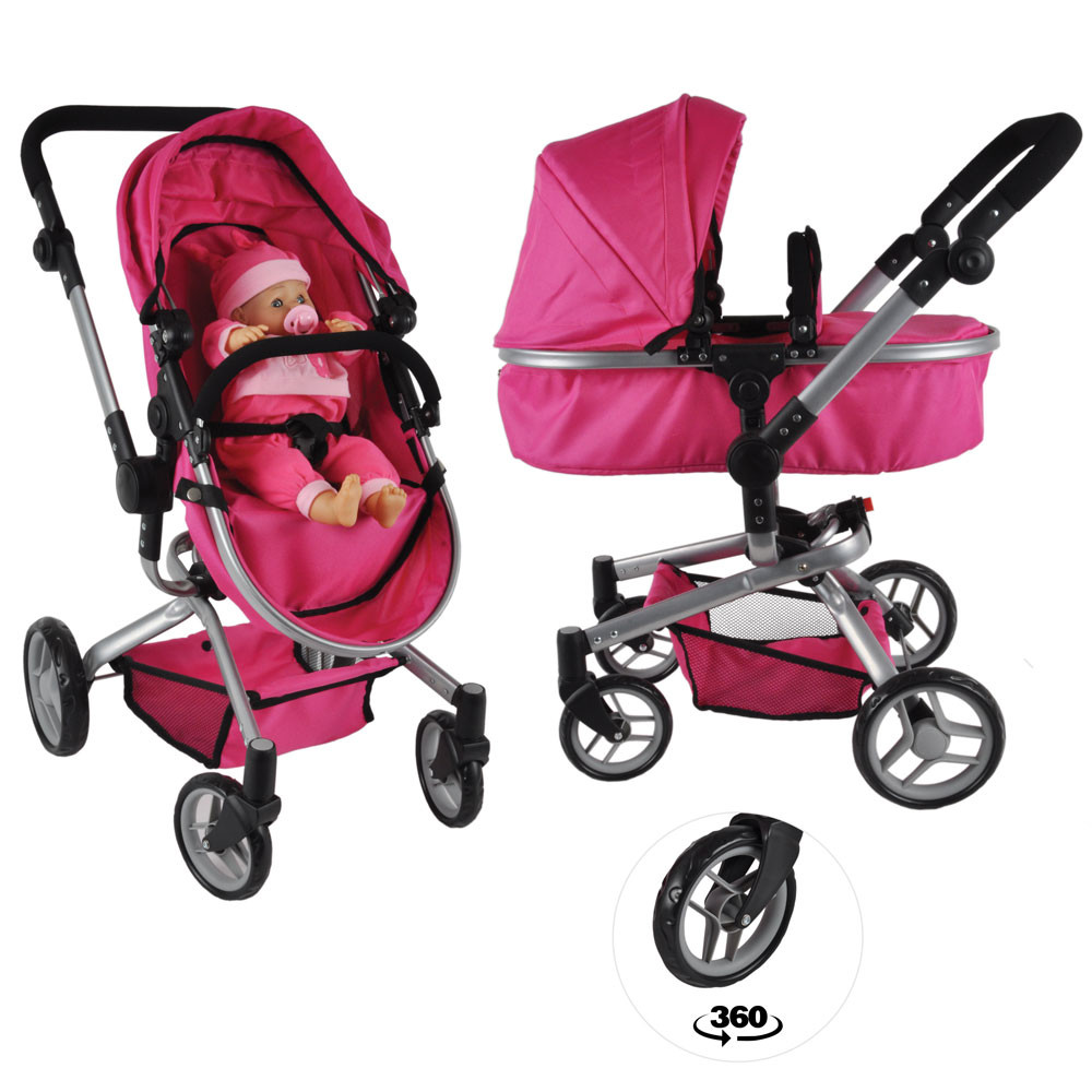 Pink angel 2in1 poppenwagen