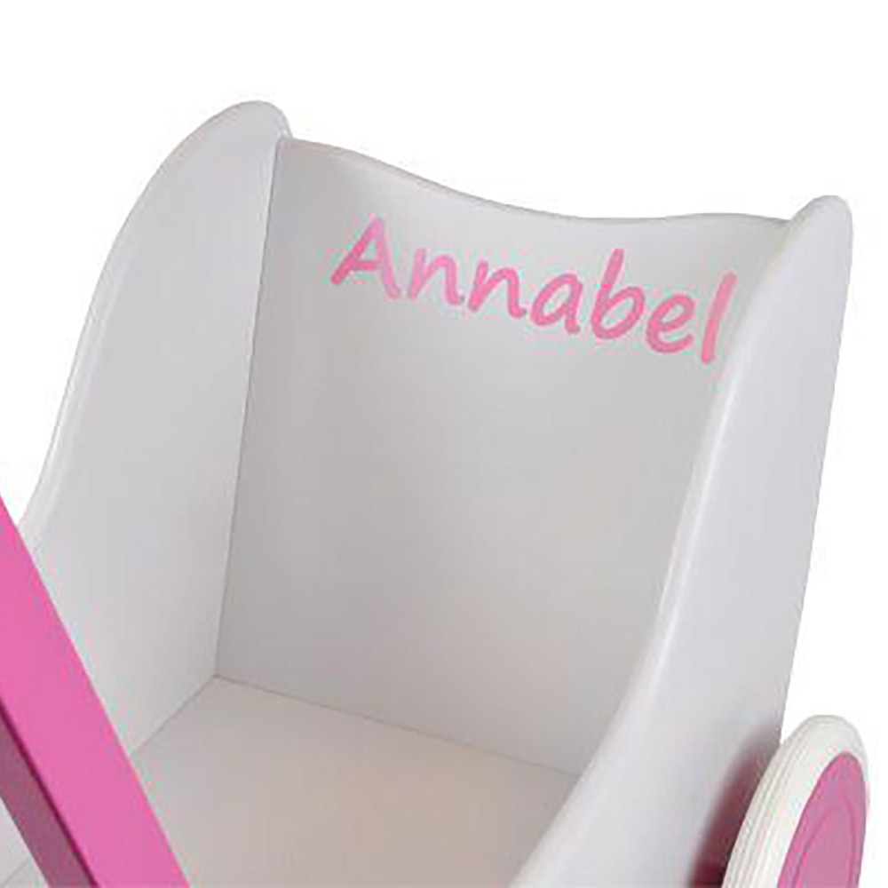 Sticker met eigen naam roze (model Little)