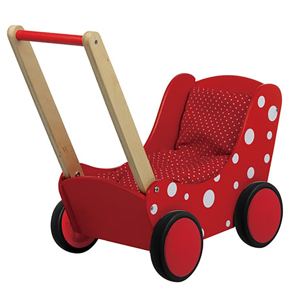Simply For Kids Stippen rood poppenwagen