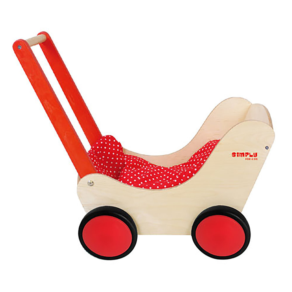 Simply For Kids Classic Red poppenwagen